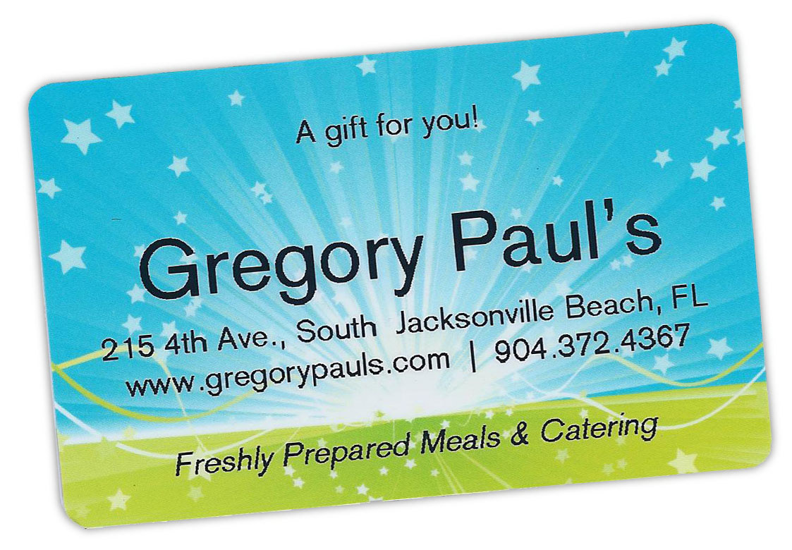 Gregory Paul's Gift Card